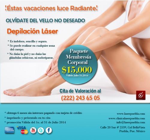 Depilacion Laser En Promocion Laser Puebla Clinica Dermatologica Y Cirugia Estetica De Puebla